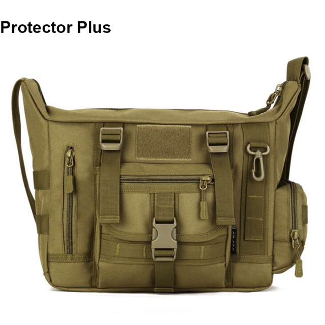 Protector Plus Outdoor Sports Bag Camouflage Nylon Tactical Military Messenger  Bag Ipad Laptop Bag Men s Shoulder Bag S385 91c6a943dbdf9