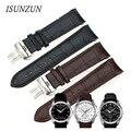 Isunzun hombres de reloj correas de reloj tissot t035 1853 venda de reloj 22 23 24mm mecánica correa de cuero correa de reloj pulsera cinturón herrenuhr