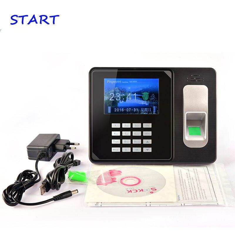 Build In Battery SSR Biometric Fingerprint Time Clock Recorder Attendance Employee Electronic Finger And Card Time Attendance