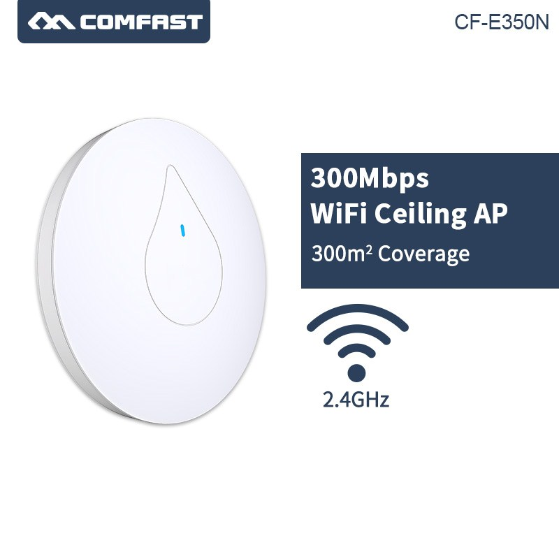 COMFAST CF-E350N Through Wall Powerful 300M Indoor Ceiling AP 48V Poe Adapter open ddWRT Wi fi Router built-in 6dbi wifi antenna(China)