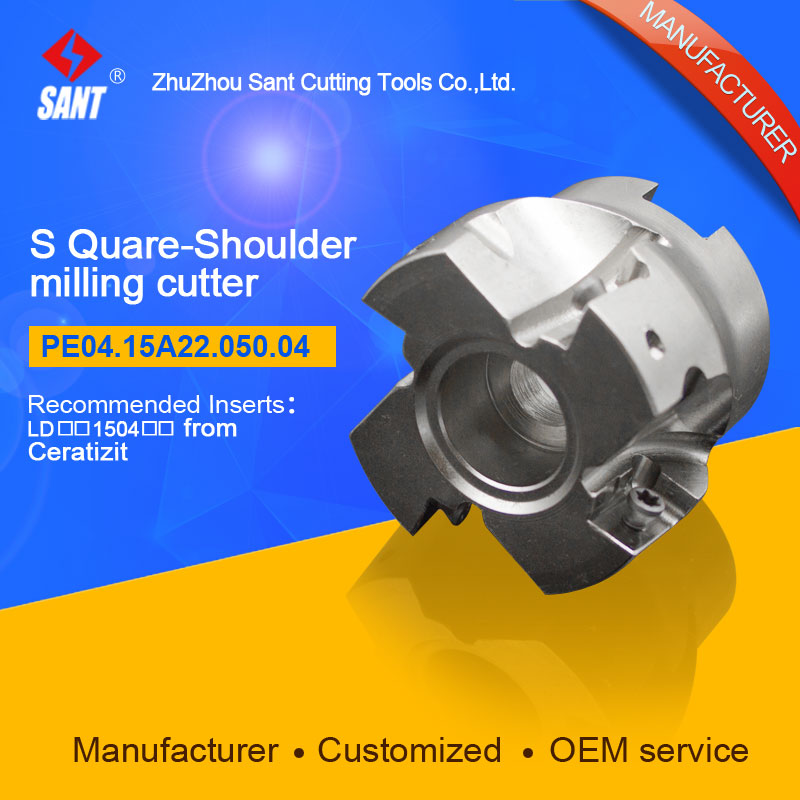 Square shoulder milling cutter Indexable milling tools insert LDCN 1504 from Ceratizit disc PE04.15A22.050.04 hot selling Abroad