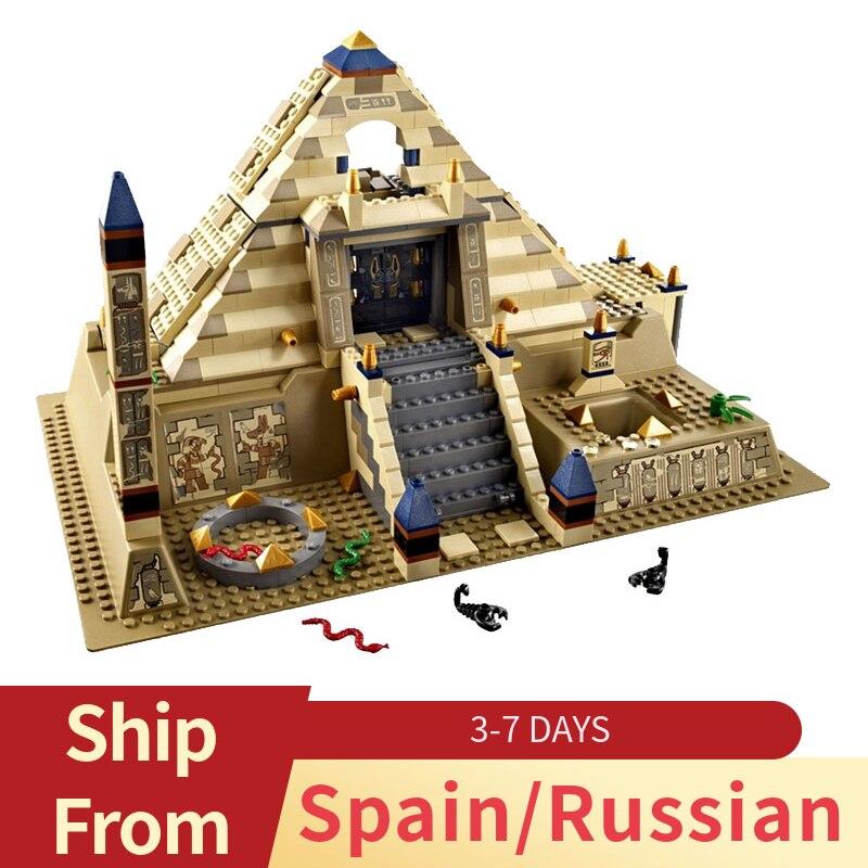 Creator Series Egypt Architecture Scorpion Pyramid Model Truck Building Blocks Toys For Children Compatible City Sets