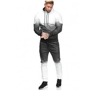 Image 4 - Litthing Zipper Tracksuit Men Set Sport 2 Pieces Sweatsuit Mens Clothes Printed Hooded Hoodies Jacket & Pants Track Suit Men