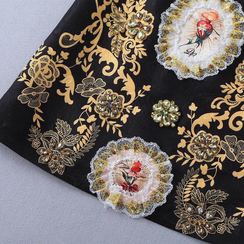 Pour Xl Cristal 2019 De Et Noir Jacquard D'été Grâce Mode Imprimé Mini Passion Fleurs Réservoir Gloria Floral Vintage Robe Or rrqfHP4A