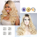 Парик блондинки темные корни ломбер парик Nicki Minaj качество афроамериканца знаменитости парики локальная доставка