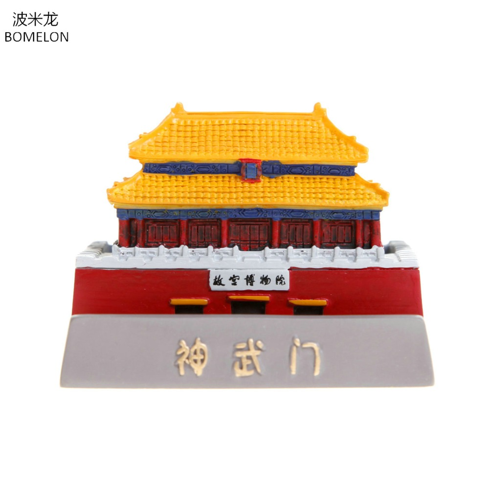 Original China Forbidden City Shenwu Gate Figures Mini Resin Model Phone Holder Palace Museum official Souvenir Gift Decoration loz mini diamond block world famous architecture financial center swfc shangha china city nanoblock model brick educational toys