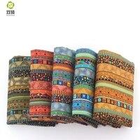 Africain Floral Coton Linge vintage tissu de BRICOLAGE À La Main Textile Couture Patchwork Pour Sacs Robe Vêtements 145*50 CM M44