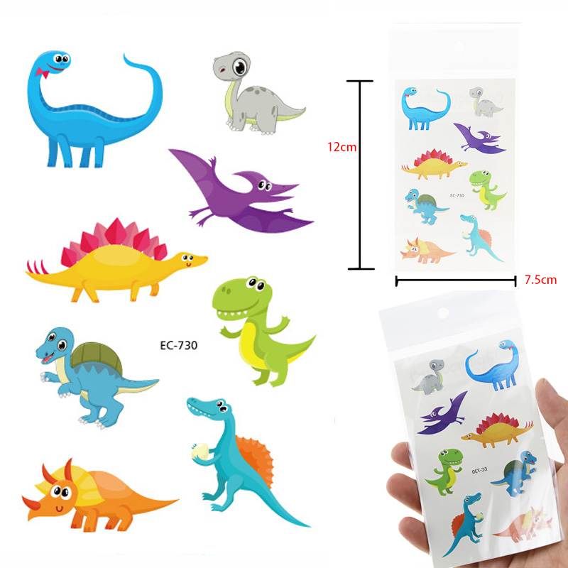 Dinosaur  Animals Design Temporary Tattoo For Children Waterproof Tatoo Sticker Body Art A Set Of Lovely Fake Tattoo