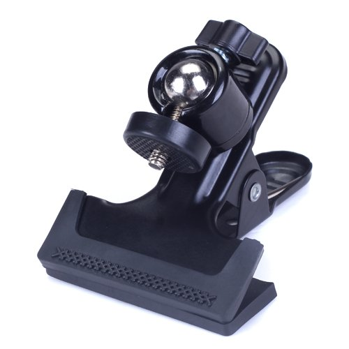 CES Metal Photo Studio Flash Spring Clamp Clip Mount With Ball Head Black