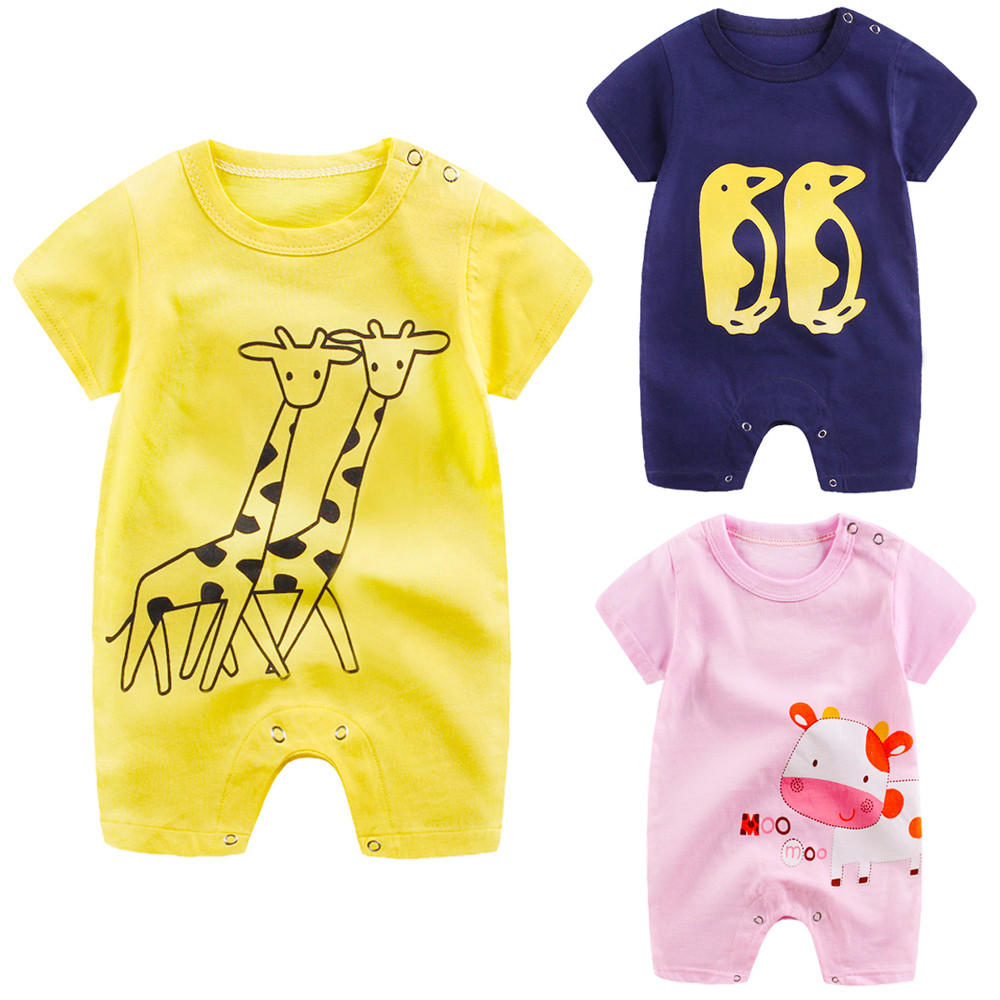 2018 New Summer Casual Children Newborn Infant Baby Boy Girl Cartoon Romper Cute Jumpsuit Climbing Clothes baby clothes bebes#15