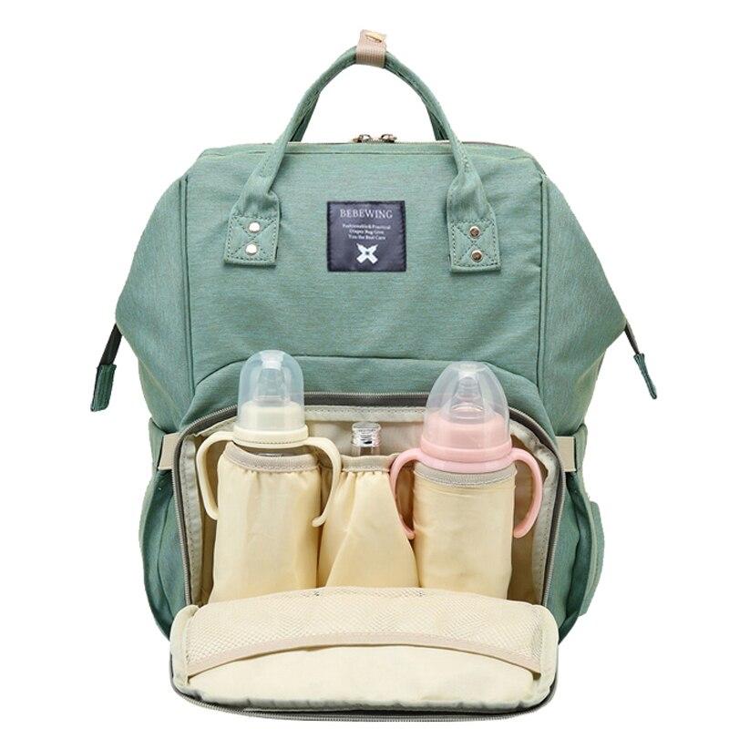 2017 moda mamá maternidad pañal mochila bolsa de gran capacidad mamá bebé multifunción al aire libre de viaje bolsas de pañales para el cuidado del bebé