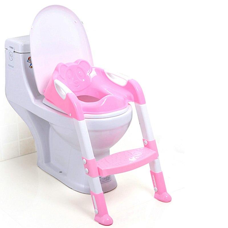 2 colores bebé asiento de entrenamiento insignificante de los niños orinal bebé inodoro con escalera ajustable infantil aseo asiento plegable