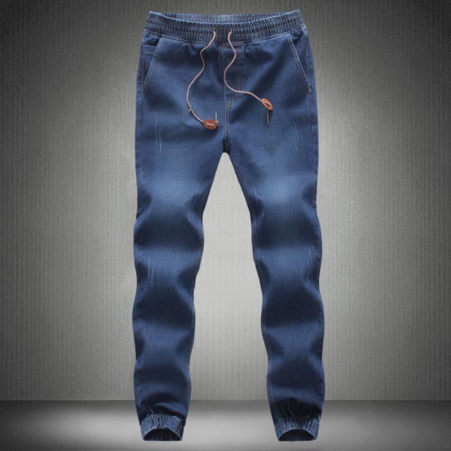 Pantalones Vaqueros de los hombres 2017 Hombre Denim Elástico Joggers Hombre Slim Fit Jeans Pantalones Para Hombre Joggers Pantalones Lápiz Hombre Denim Pantalones