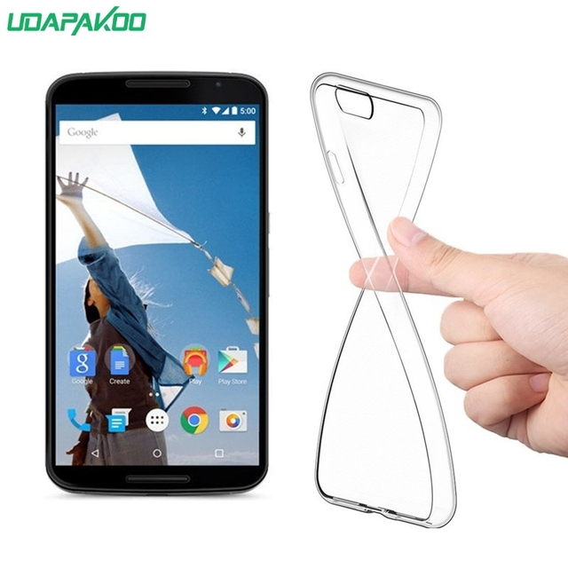 check out 8c22f 3ee2d US $1.39 30% OFF|Udapakoo Transparent Clear Bumper Rubber Case for LG  Google NEXUS 6 Soft TPU Ultra Thin Phone Cases Cover-in Fitted Cases from  ...