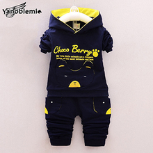 Baby Boys Girls Brand Clothing Sets Cute Cotton Cartoon Pocket Bear Print Sweatshirts Pants Kids Clothes