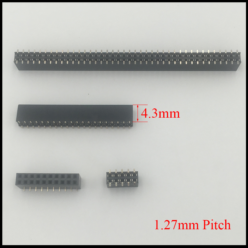 2*3 2x3 2*4 2x4 2*5 2x5 Pin 6P 8P 10P 1.27mm Pitch 4.3mm Height Double Row SMD SMT Female Connector Socket Pin Header Strip
