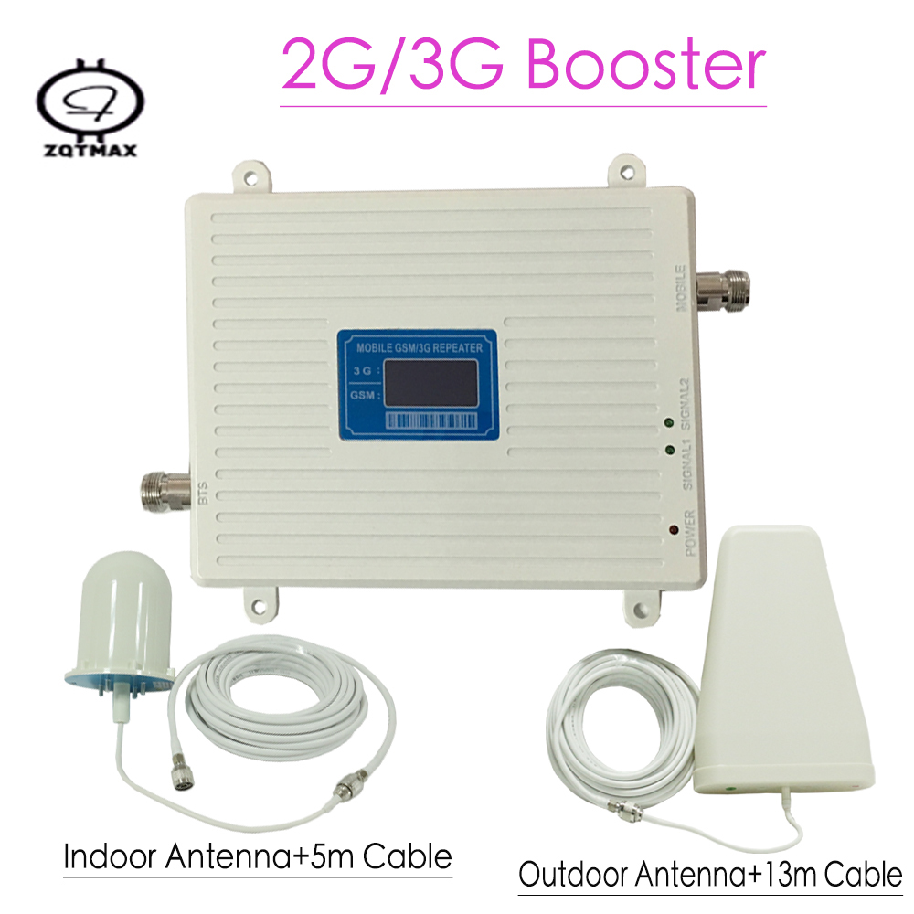 LCD Display 3G GSM Repeater GSM 900MHz UMTS 2100MHz Cell Phone Signal Repeaters GSM WCDMA Booster Dual Band Booster Amplifier