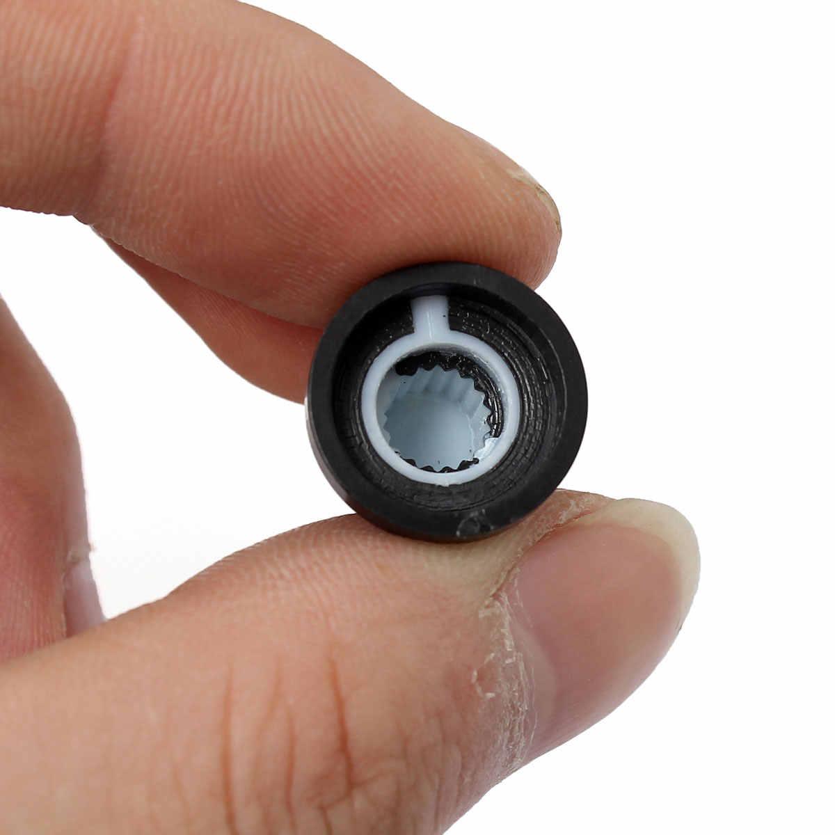 En yeni!! Sıcak Satış 10 Adet 6mm Mil Delik Dia Plastik Dişli Tırtıllı Potansiyometre Kolları Caps