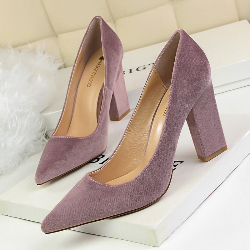 2019 Bigtree Shoes Summer Classic Pumps Fashion Wedding Shoes Square High Heels Women Shoes Sexy Party Shoes Elegant Work Shoes