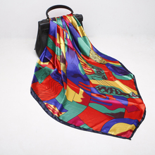 4fff4a031e292 Fashion Scarves For Women Soft Silk Satin Shawl Scarf Female Picasso  Painting Abstract Print Hijab Scarfs