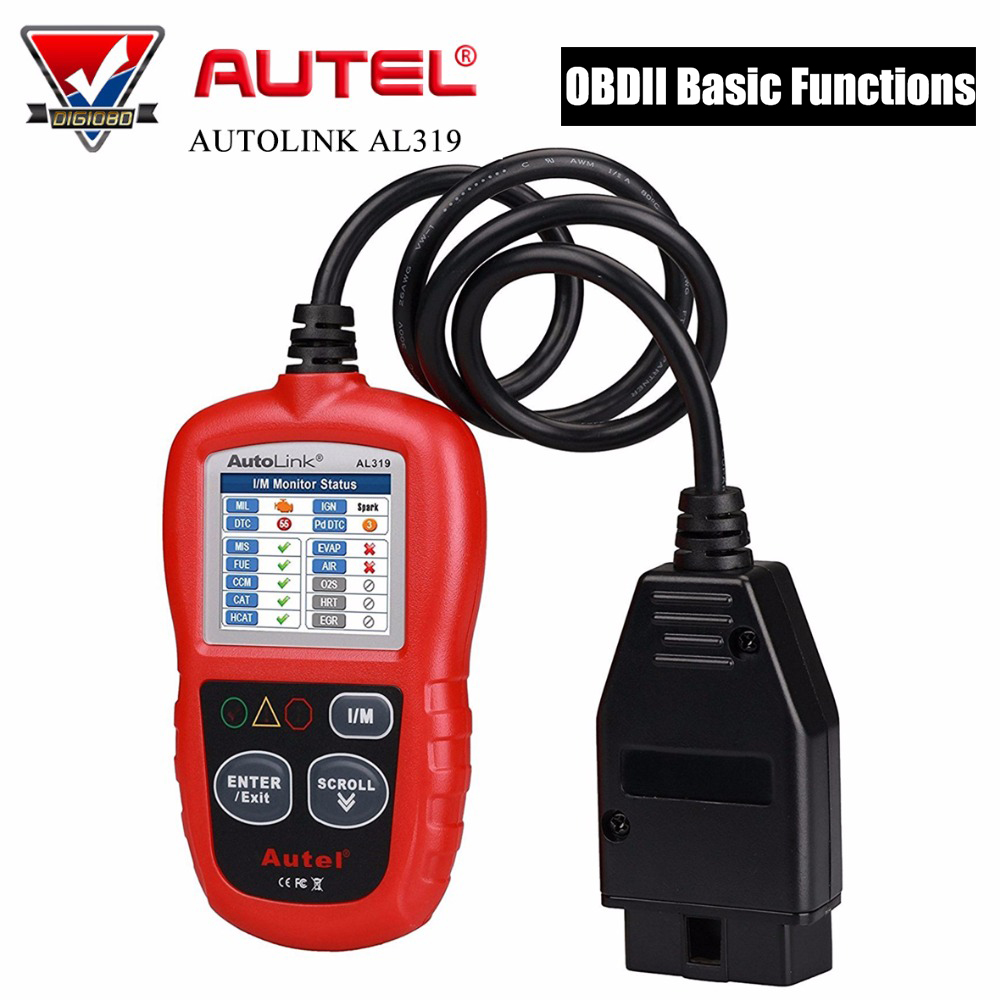 Autel AutoLink AL319 OBD2 Scanner Diagnostic Tool Automotive Engine Fault Code Reader CAN Scan Tool Free Update Online launch x431 obd2 automotive diagnostic scanner obd2 bluetooth adpater mdiag elm327 update online enhanced code reader