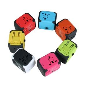 Image 5 - Spina elettrica adattatore per presa di corrente convertitore universale per caricabatterie da viaggio internazionale EU UK US AU con 2 LED di ricarica USB 2.4A