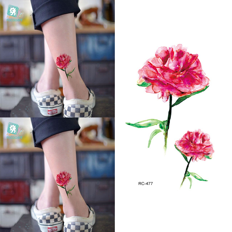 10pcs Waterproof Temporary Tattoos Sleeve Owl Fox Artificial Flowers Tattoo Many Designs Sex Men Beauty Body Art 3d Tatoo 17