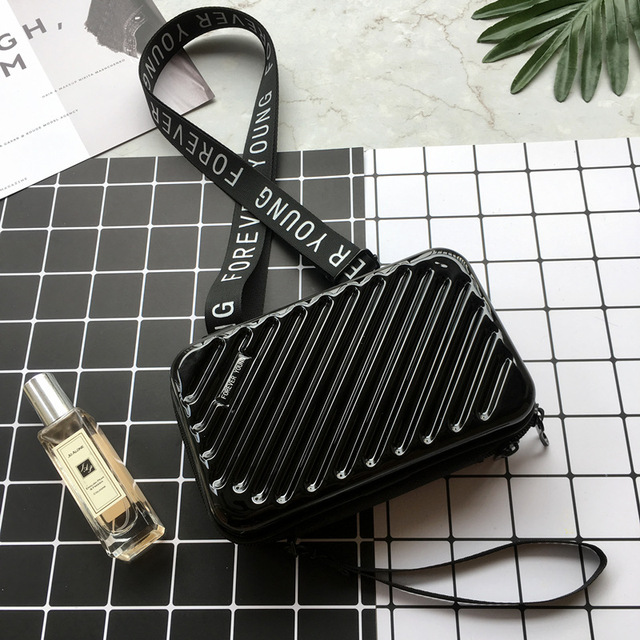 Luxury Hand Bags for Women 2019 New Suitcase Shape Totes Fashion Mini Luggage Bag Women Famous Brand Clutch Bag Mini Box Bag 1