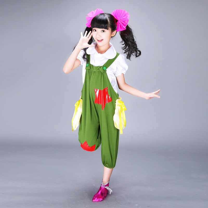 contemporary dance costumes girls Childrens fancy dress modern dancing dress of girl kids competition dance costume wear