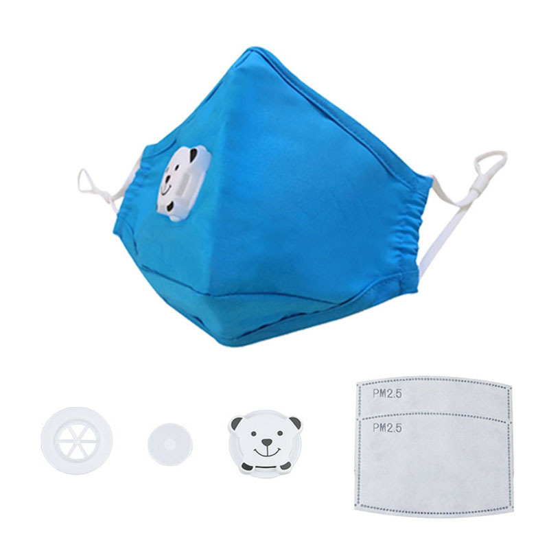 GLORSUN 1 Pcs Cartoon Children PM2.5 Mouth Mask Kids Breath Valve Anti Haze Breathable Mask Anti Dust Mouth-muffle Respirator
