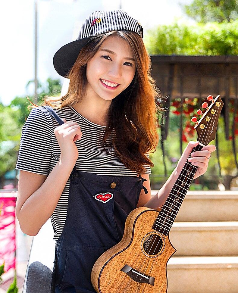 Enya MG6 Ukulélé 23 26 3A bois De Manguier massif ukulélé concert ténor Hawaii Guitare 4 Cordes Instruments de Musique professionnels