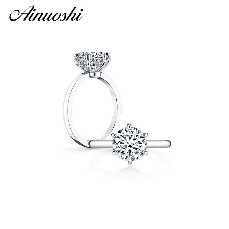 Nagykereskedelem luxus 3 karátos, kerek kivágású szintetikus szonál gyűrű női 925 szilárd ezüst eljegyzési gyűrű esküvői évforduló gyűrű