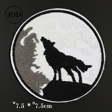 Biker DIY Iron on Cartoon Patch Embroidered Military Badges Hippie Kids Patches for Clothes Stickers Badge Wolf JOD