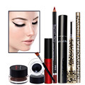 Women Value Pack Makeup Set Gift Eyeliner Cream Eye Liner Pen Eyebrow Pencil Sexy Lipstick Lipliner Eye Liner Mascara Tool Kit