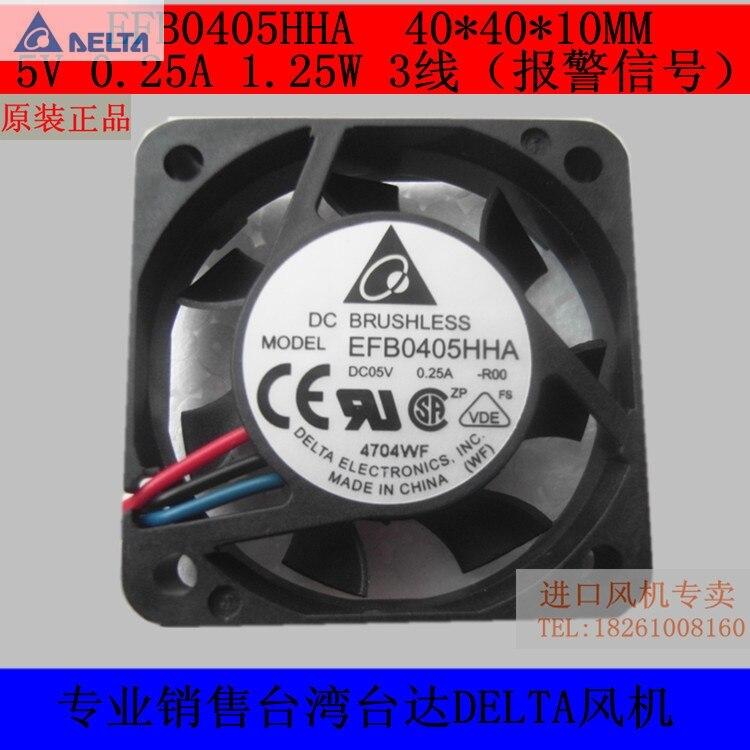 EFB0405HHA-F00  delta fan ball 40 mm x 10 mm 5VDC  1 pc