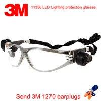 3 M 11356 occhiali di sicurezza occhiali di sicurezza 3 M occhiali protettivi Ad Alta resistenza anti shock Doppio faretti gafas de seguridad-in Occhiali di protezione da Sicurezza e protezione su