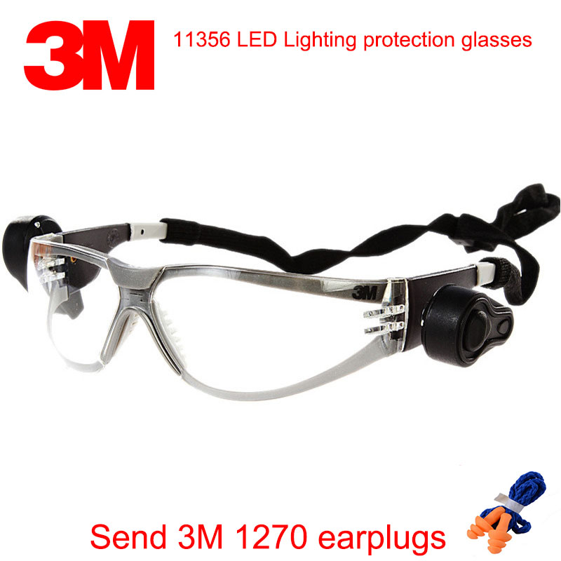 3M 11356 safety glasses safety glasses 3M protective goggles High-strength anti-shock Double spotlights gafas de seguridad provide safety glasses explosion protection anti shock protective glasses universal high quality goggles