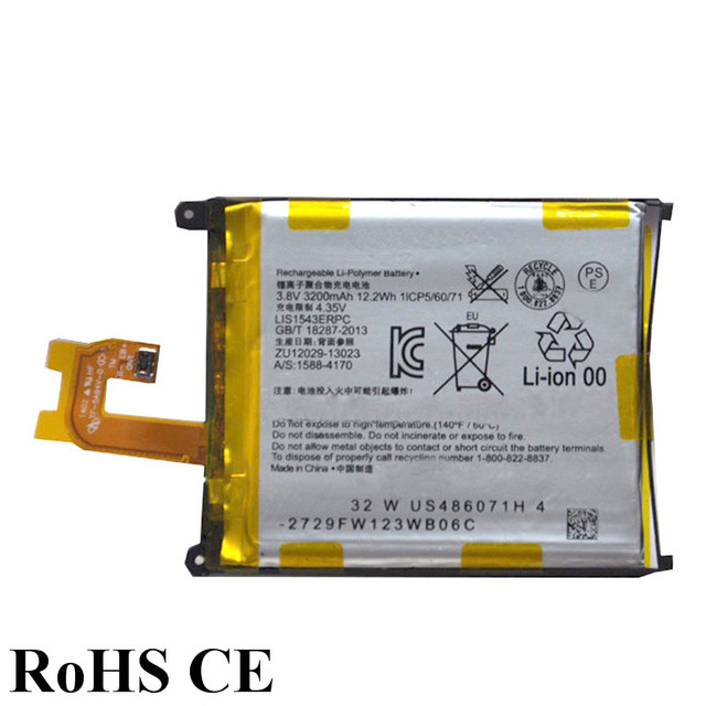 3200mAh LIS1543ERPC New Cellphone Replacement Internal Battery for Sony Xperia Z2 L50 L50W L50U L50T D6502 D6503 Best Quality