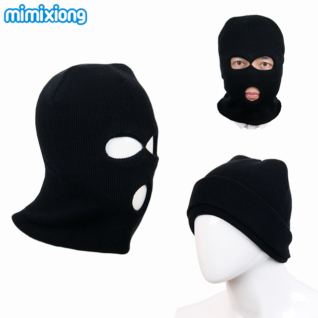 Well-known Black Child's Balaclava Knitting Pattern Baby Boy Winter Face Mask  SM84