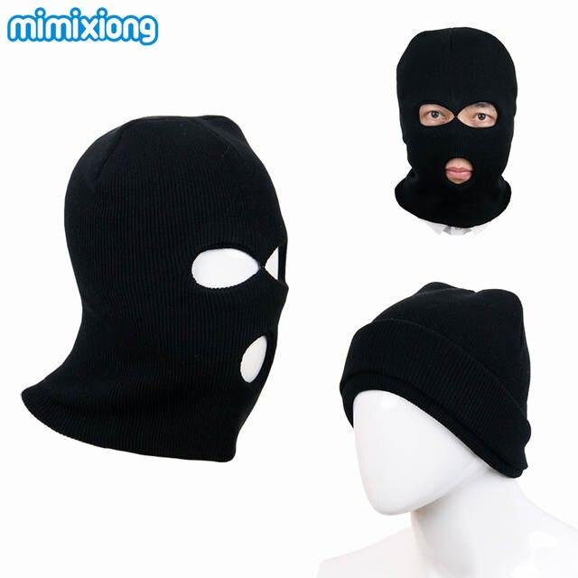 Black Child s Balaclava Knitting Pattern Baby Boy Winter Face Mask Kids  Warm Hats Grey Windproof Toddler cebda9bb1b4c