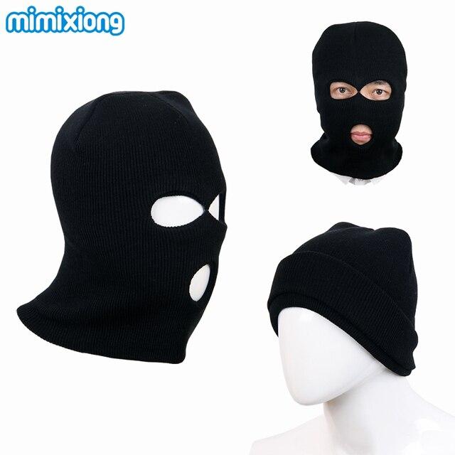 Niño negro pasamontañas de punto patrón invierno Bebé Cara máscara ...