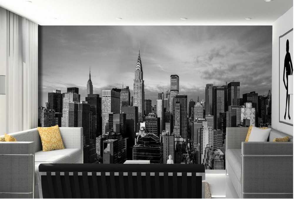 Aliexpress  Buy Wallpapers for living room black and white - 3d wallpaper for living room