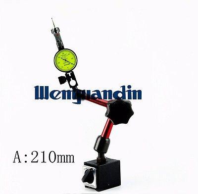 Magnetic Base Holder For Digital Dial Test Indicator Flexible Magnetic Stand Test Gauge Meter Holder 210mm dsha new hot flexible magnetic base holder stand scale precision dial test indicator gauge