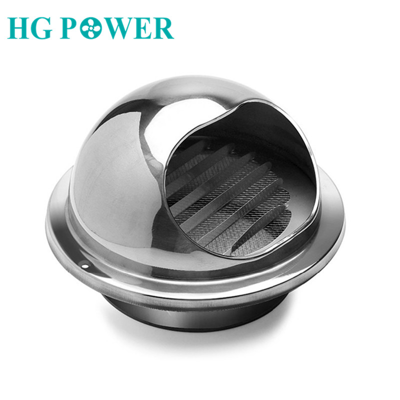 4-12''Grille Ventilation Round Duct Cap Stainless Steel Wall Ceiling Ventilation Air Grill Cover Extractor Air Vent Tumble Dryer