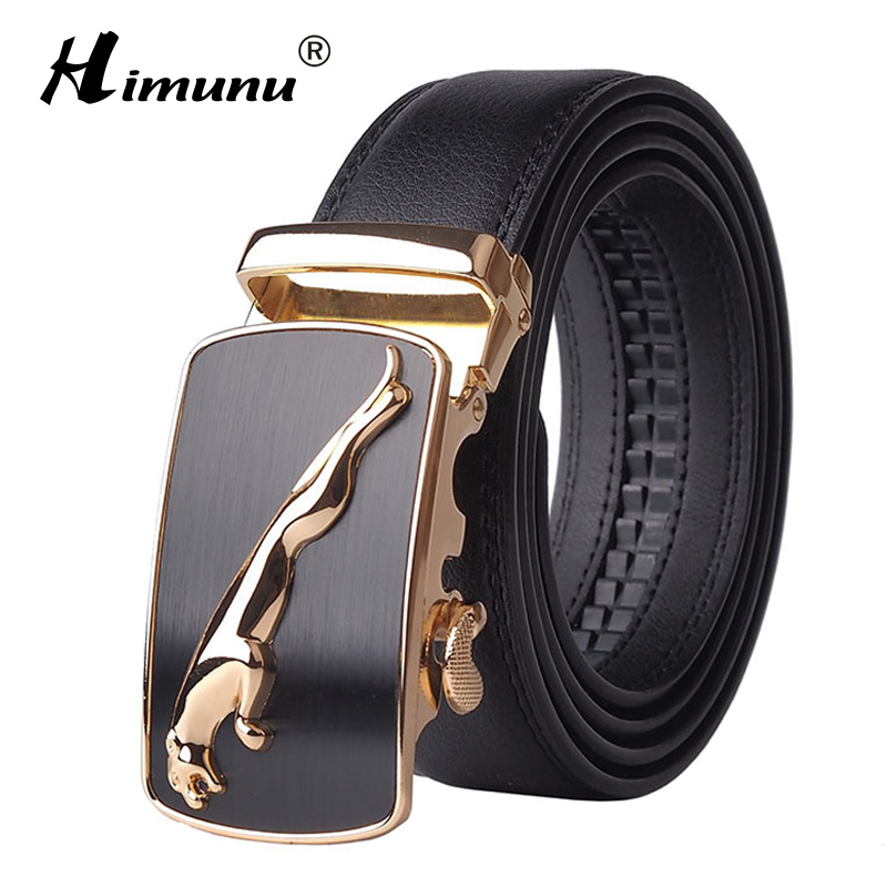 2016 New Designer Automatic Buckle Cowhide Leather