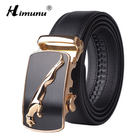 New Product Brand Luxury Automatic Buckle Head Layer Cowhide Belt Leather Belts For Men Business Cowboy