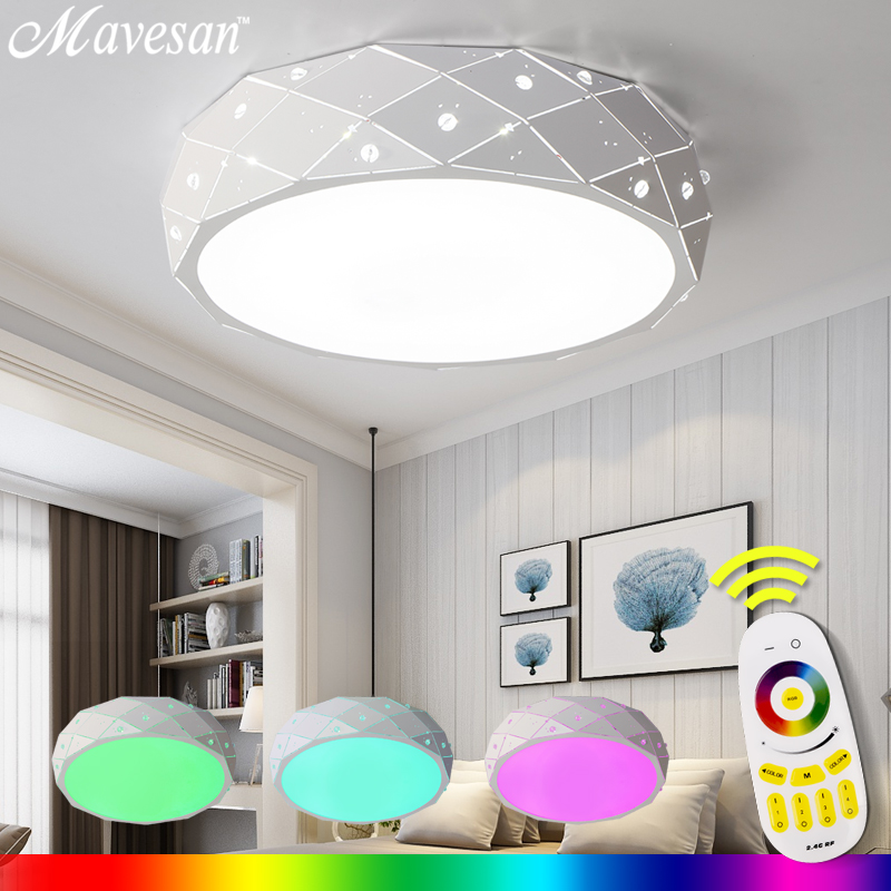 New Ceiling Lights Indoor Lighting For Living Room Luminarias Para Sala Ceiling Fixtures Bedroom lighting With Remote Control modern multicolour crystal ceiling lights for living room luminarias led crystal ceiling lamp fixtures for bedroom e14 lighting