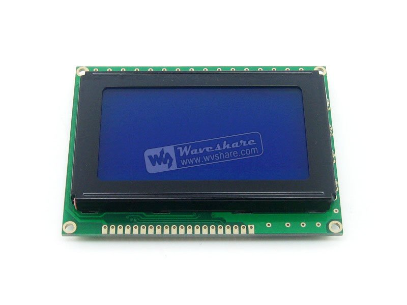 module 12864 128*64 Graphic Matrix LCD LCM Display Module TN/STN Blue Backlight White Character 5V Logic Circuit