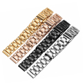Alta calidad correa de reloj de acero inoxidable de la correa para huawei b2 b3 inteligente reloj 15mm 16mm pulsera envío gratis