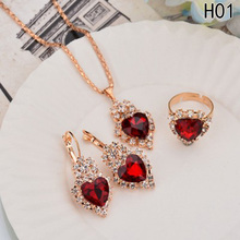 Excellent Luxury  Trend Lovely Heart Products Jewelry Sets Hot Zircon Supplies